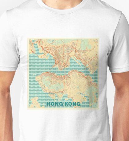 Hong Kong Map Retro Unisex T-Shirt