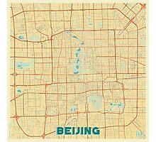 Beijing Map Retro Photographic Print