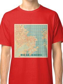 Rio De Janerio Map Retro Classic T-Shirt