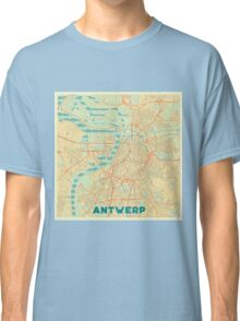 Antwerp Map Retro Classic T-Shirt