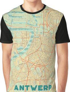 Antwerp Map Retro Graphic T-Shirt