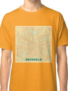Brussels Map Retro Classic T-Shirt