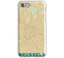 Brussels Map Retro iPhone Case/Skin