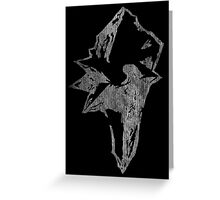 °FINAL FANTASY° Final Fantasy IX B&W Logo Greeting Card