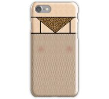 Fishnet Stockings and Leopard Skin Knickers Pale Skin iPhone Case/Skin