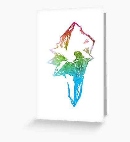 °FINAL FANTASY° Final Fantasy IX Rainbow Logo Greeting Card