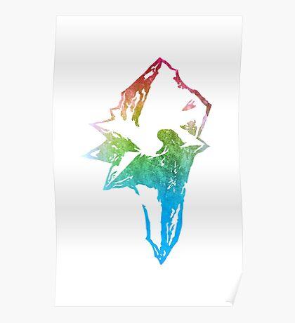 °FINAL FANTASY° Final Fantasy IX Rainbow Logo Poster