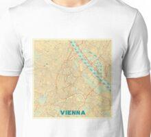 Vienna Map Retro Unisex T-Shirt