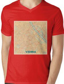 Vienna Map Retro Mens V-Neck T-Shirt
