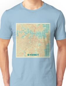 Sydney Map Retro Unisex T-Shirt