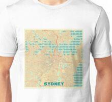 Sydney Map Retro Unisex T-Shirt