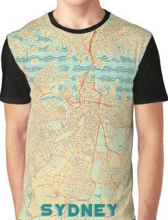 Sydney Map Retro Graphic T-Shirt