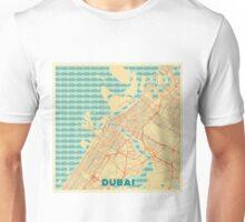 Dubai Map Retro Unisex T-Shirt