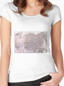 Vintage Map of Ohio (1884)  Women's Fitted Scoop T-Shirt