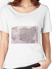 Vintage Map of Ohio (1884)  Women's Relaxed Fit T-Shirt
