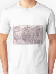 Vintage Map of Ohio (1884)  T-Shirt