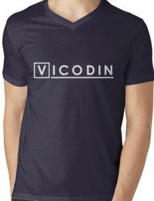 House MD Hugh Laurie Vicodin Mens V-Neck T-Shirt