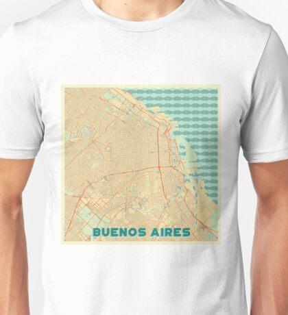 Buenos Aires Map Retro Unisex T-Shirt