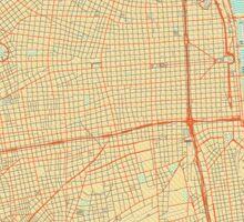 Buenos Aires Map Retro Sticker