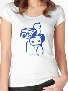 Robots groom and bride 1972 jubilee Women's Fitted Scoop T-Shirt