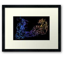 °FINAL FANTASY° Final Fantasy X Neon Logo Framed Print