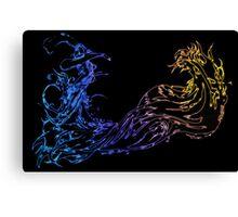 °FINAL FANTASY° Final Fantasy X Neon Logo Canvas Print