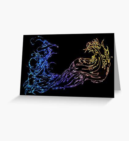 °FINAL FANTASY° Final Fantasy X Neon Logo Greeting Card