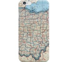 Vintage Map of Ohio (1921) iPhone Case/Skin