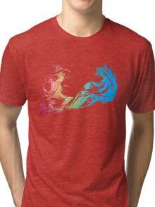 °FINAL FANTASY° Final Fantasy X Rainbow Logo Tri-blend T-Shirt
