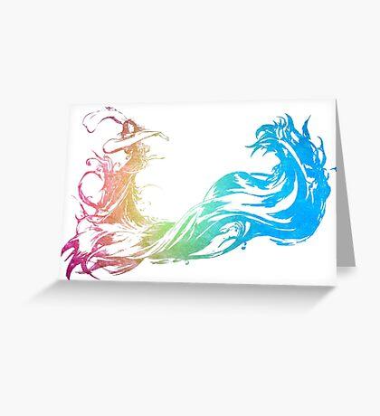°FINAL FANTASY° Final Fantasy X Rainbow Logo Greeting Card