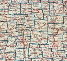 Vintage Map of Ohio (1921) Sticker