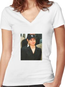 #WithHer Women's Fitted V-Neck T-Shirt