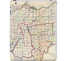 Vintage Map of Ohio (1866)  iPad Case/Skin