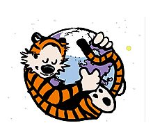 The Calvin and Hobbes Firefox Photographic Print