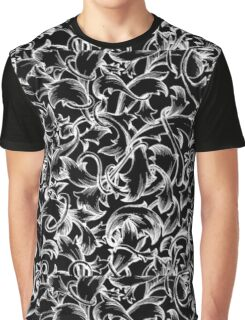 The Black Flute : Floral Flower Design Graphic T-Shirt