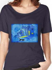 Night Cat On The Prowl Women's Relaxed Fit T-Shirt