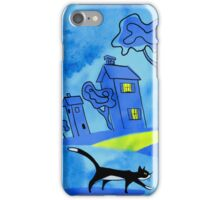 Night Cat On The Prowl iPhone Case/Skin