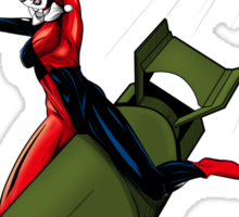 Harley Quinn Riding a Bomb Sticker