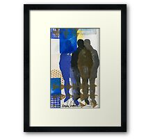 A Man and His Shadows Framed Print