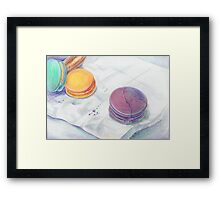 Bright multicolored macaroons Framed Print
