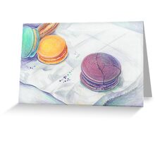 Bright multicolored macaroons Greeting Card