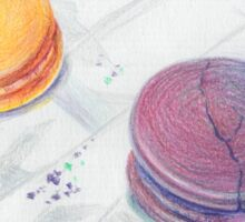 Bright multicolored macaroons Sticker