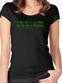 I'm Like Neo In The Matrix and Hip Hop Is Morpheus Women's Fitted Scoop T-Shirt