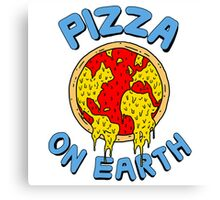 Pizza On Earth Canvas Print