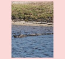 Alligator in the Water One Piece - Long Sleeve