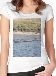 Alligator in the Water Women's Fitted Scoop T-Shirt