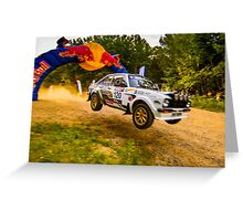 Ford Escort Mk2 Rally Jump Greeting Card
