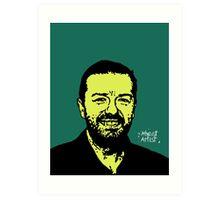 Ricky Gervais Art Print