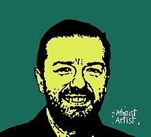Ricky Gervais by DJVYEATES