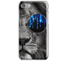 Lion with sunglasses iPhone Case/Skin